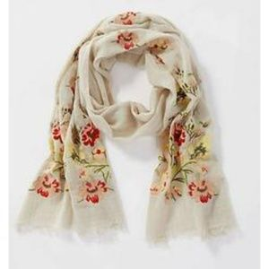 Embroidered Scarf JJill NWT
